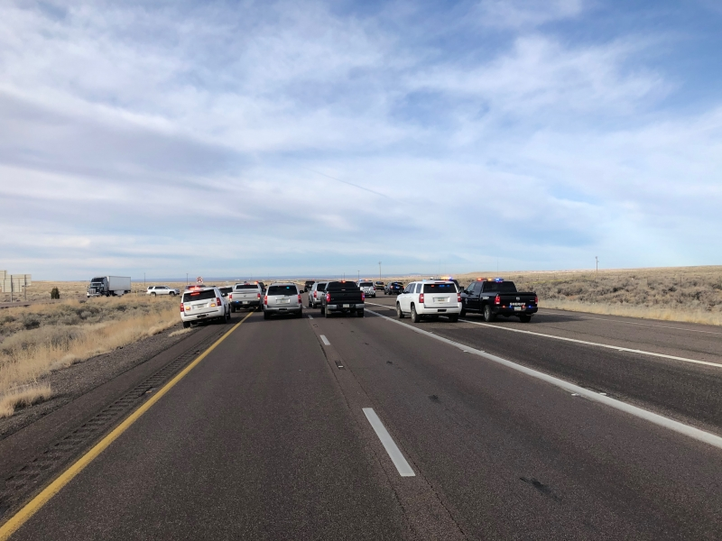 AZDPS vehicles highway scene
