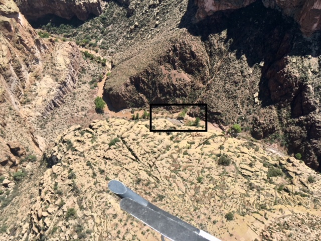 AZDPS Ranger Crew View of Aravaipa Canyon