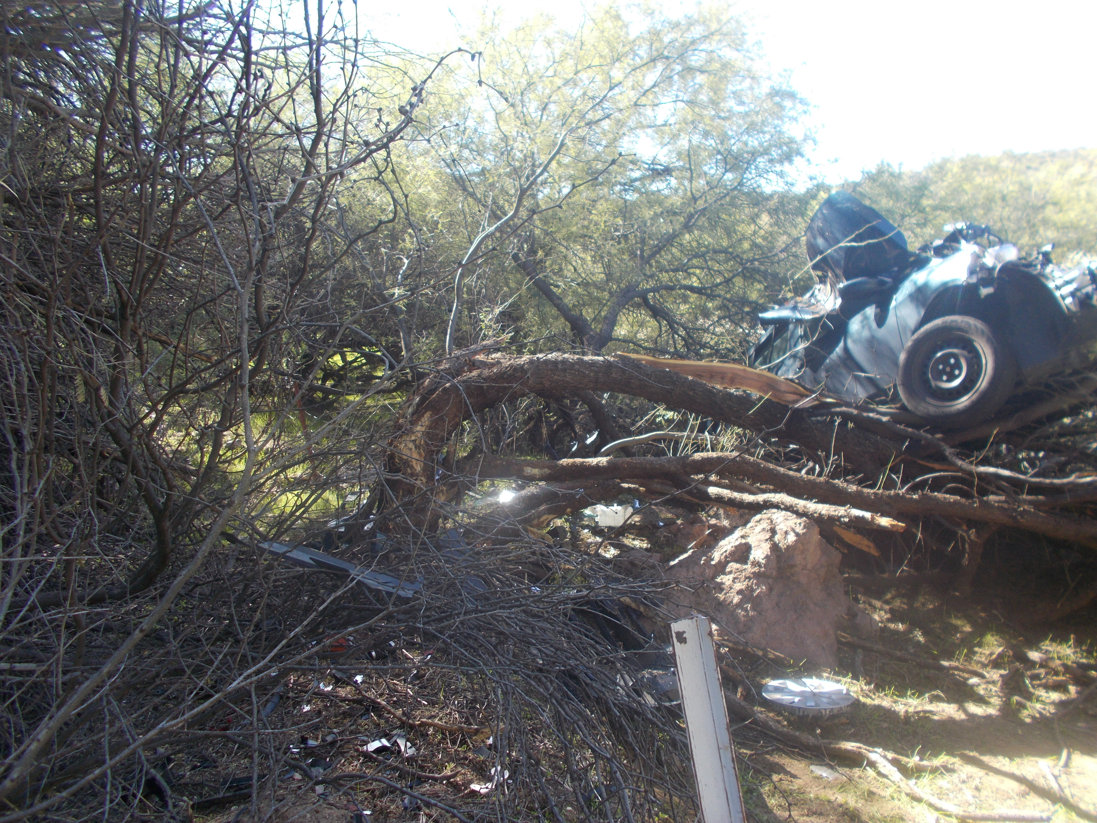 Woman stranded six days after crash