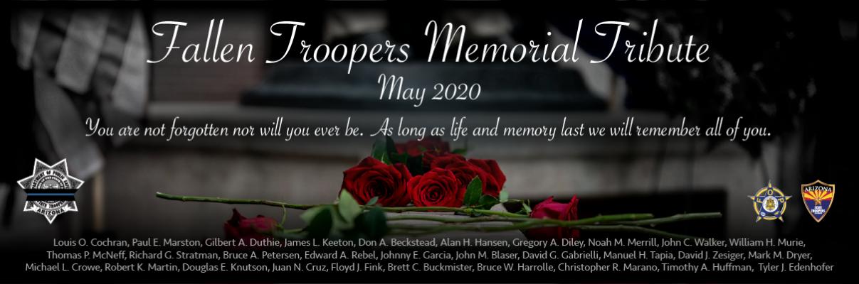 Fallen Trooper Memorial Tribute Banner