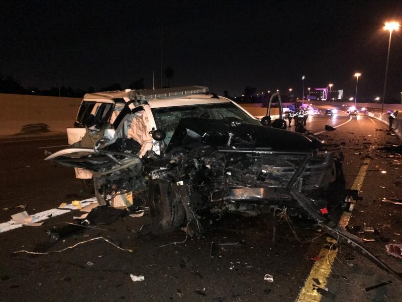 Car crash wrong way