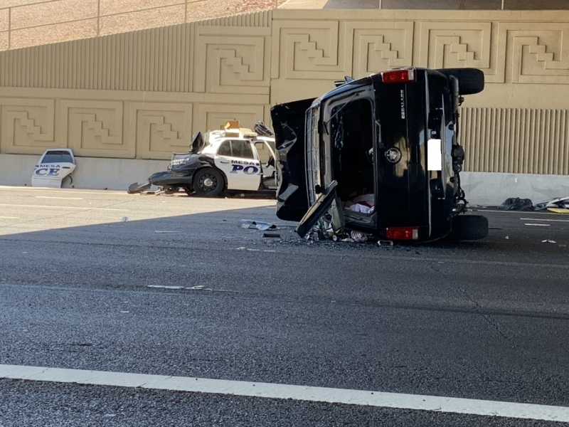 Mesa Police Department Injury Collision on US-60 at 48th St.