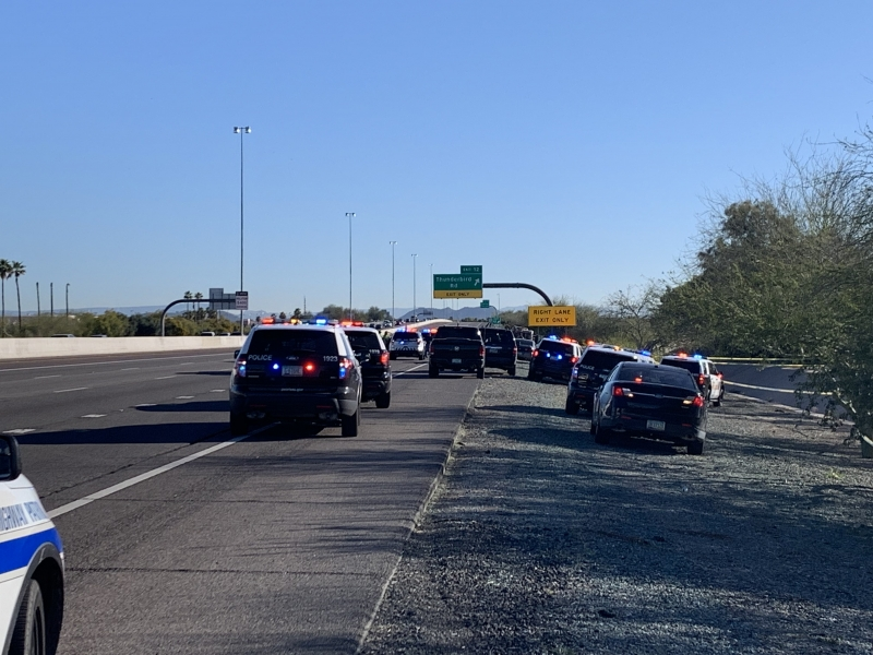 Loop 101 South of Thunderbird; Collision and Stabbing