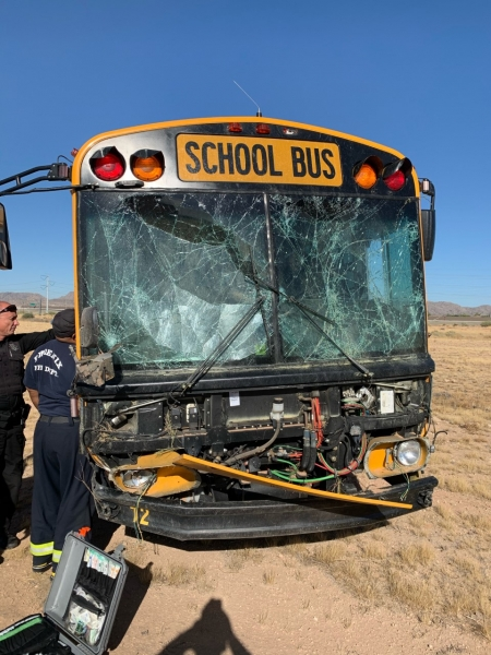 Single Vehicle Collision Involving a School Bus on SR-202 at 40th Street