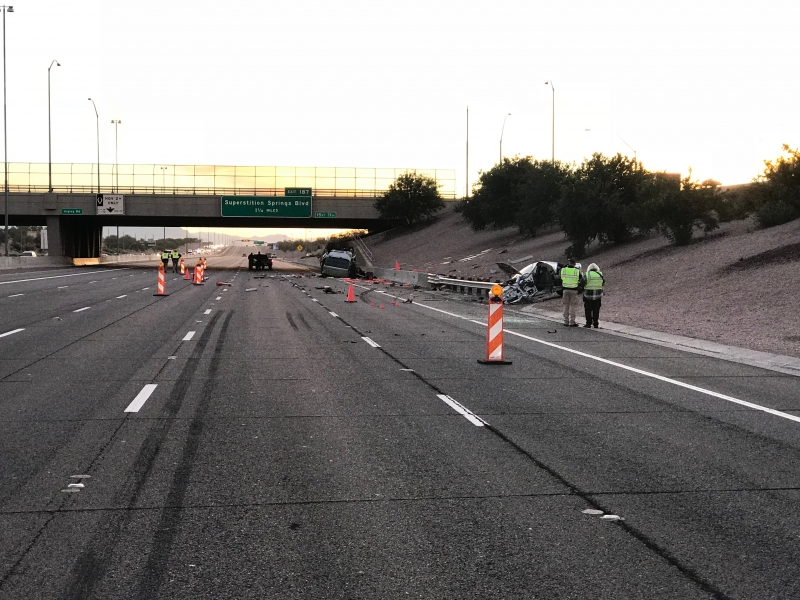 State Detectives Investigate Fatal Hit and Run on US-60 At Higley