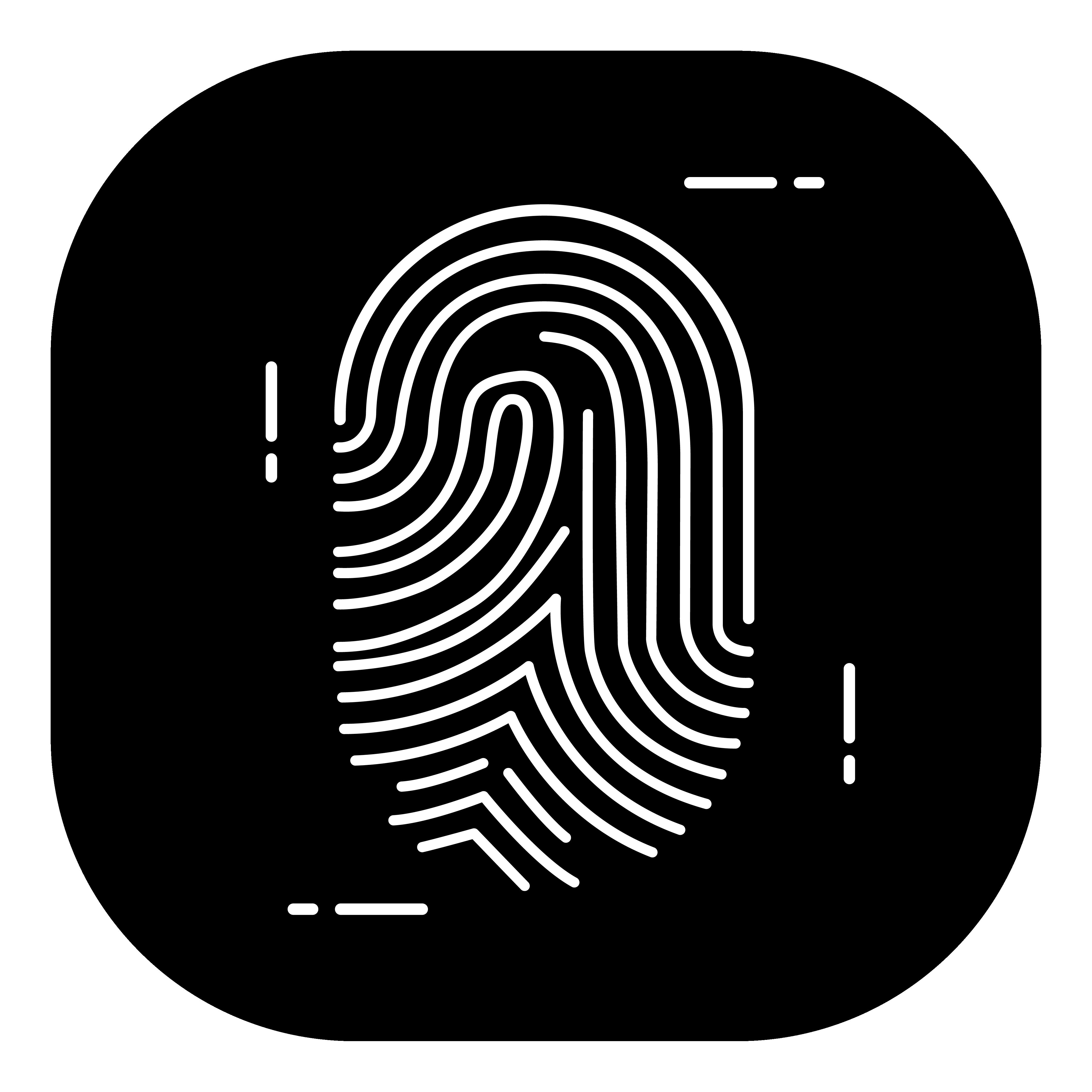 Fingerprint Clearance Card Icon