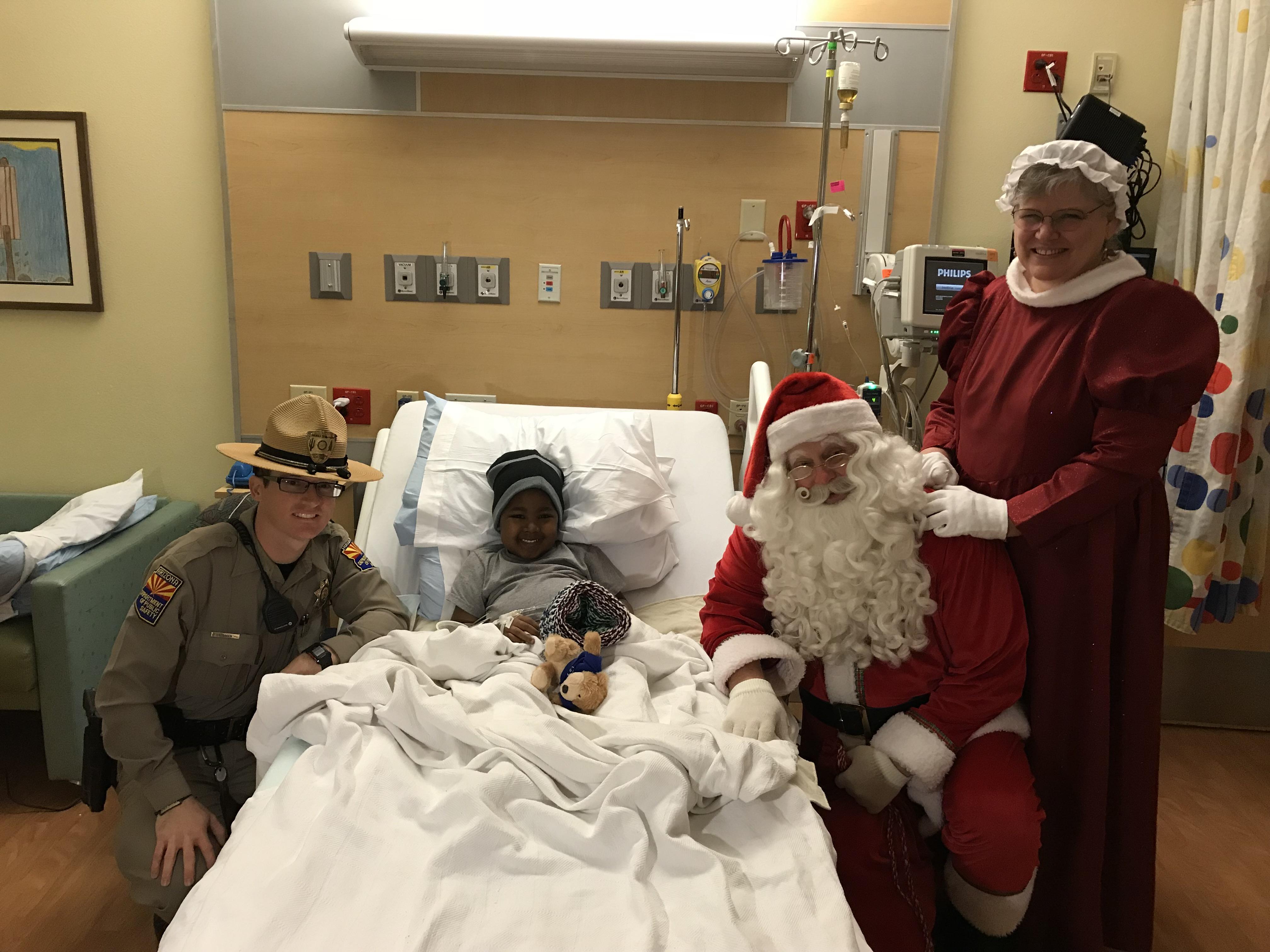 Santa in hospital