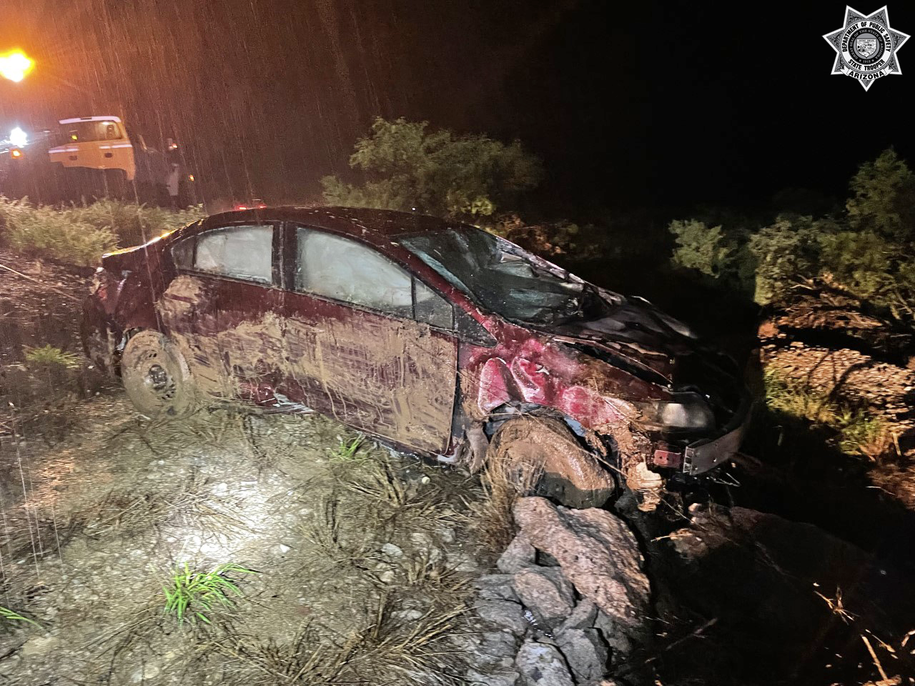 car crash wet weather