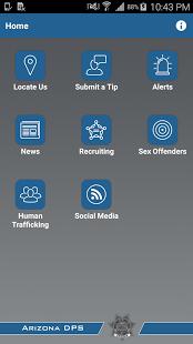 AZDPS App Screen
