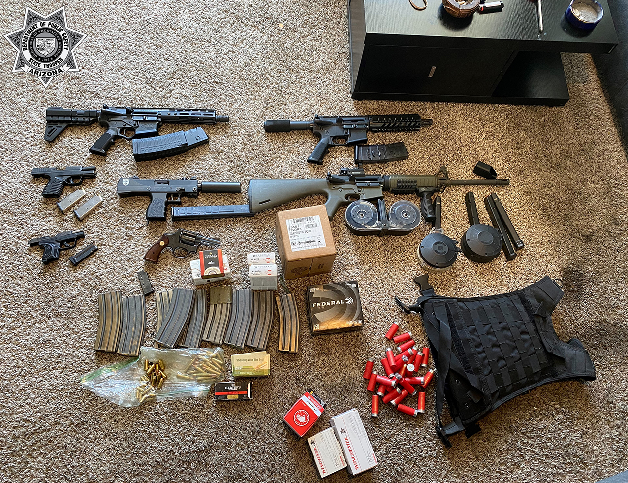 Weapons and drugs seized by detectives