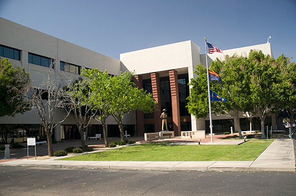 The DPS headquarters building is shown here.