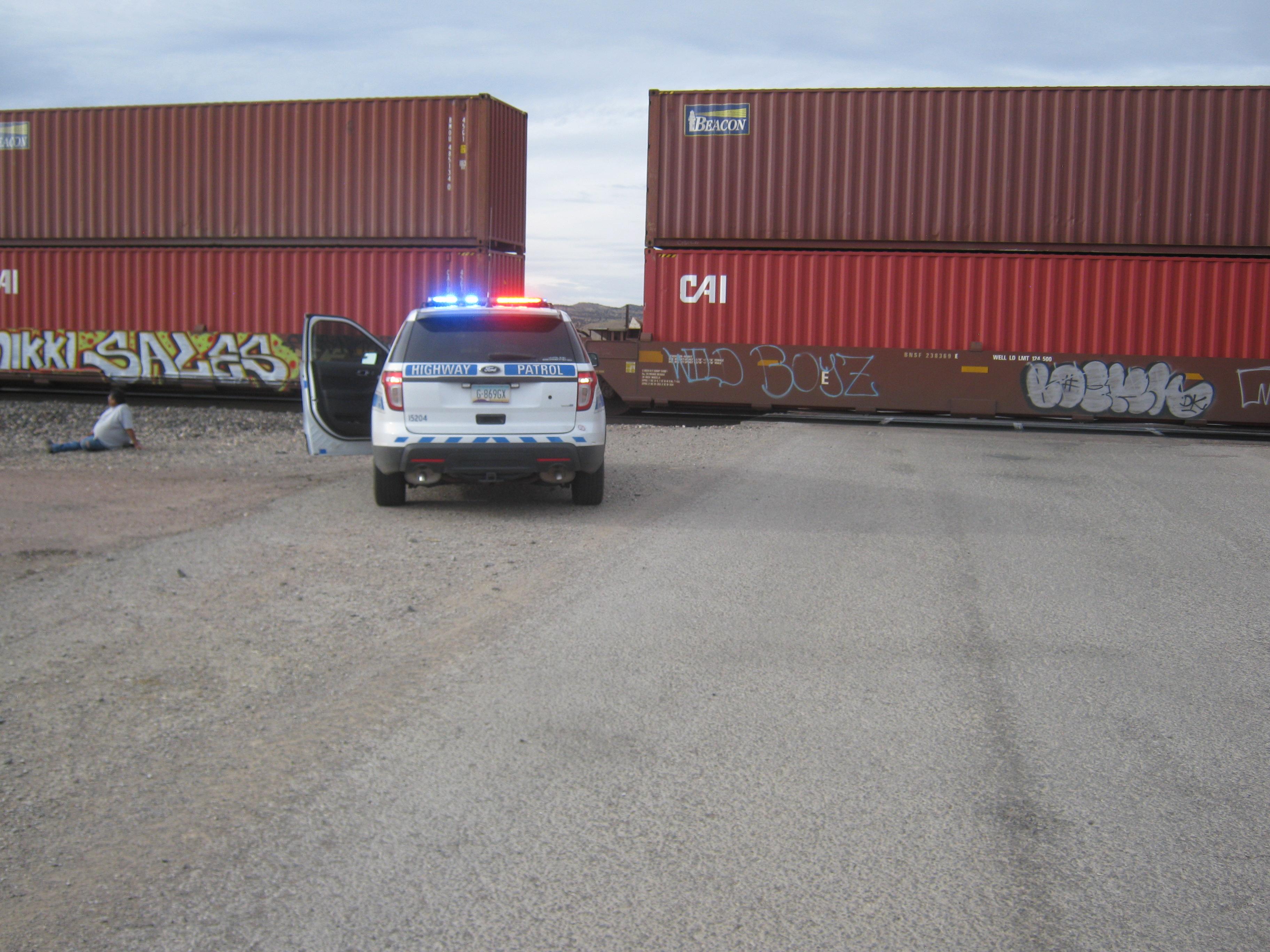trooper car and train