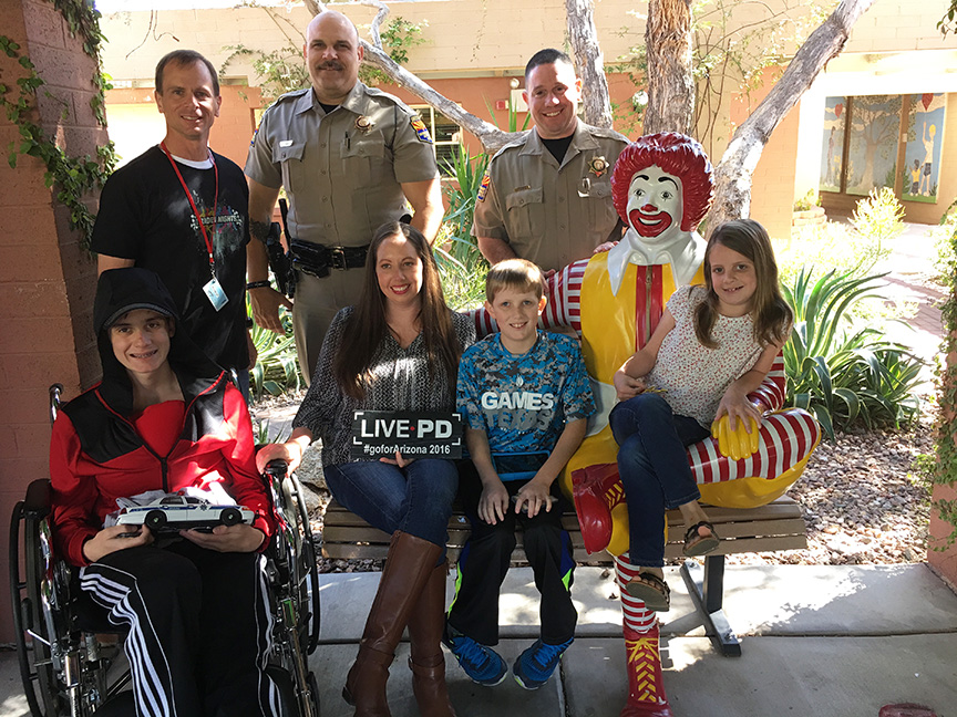Troopers brighten the day of teenager recovering from major