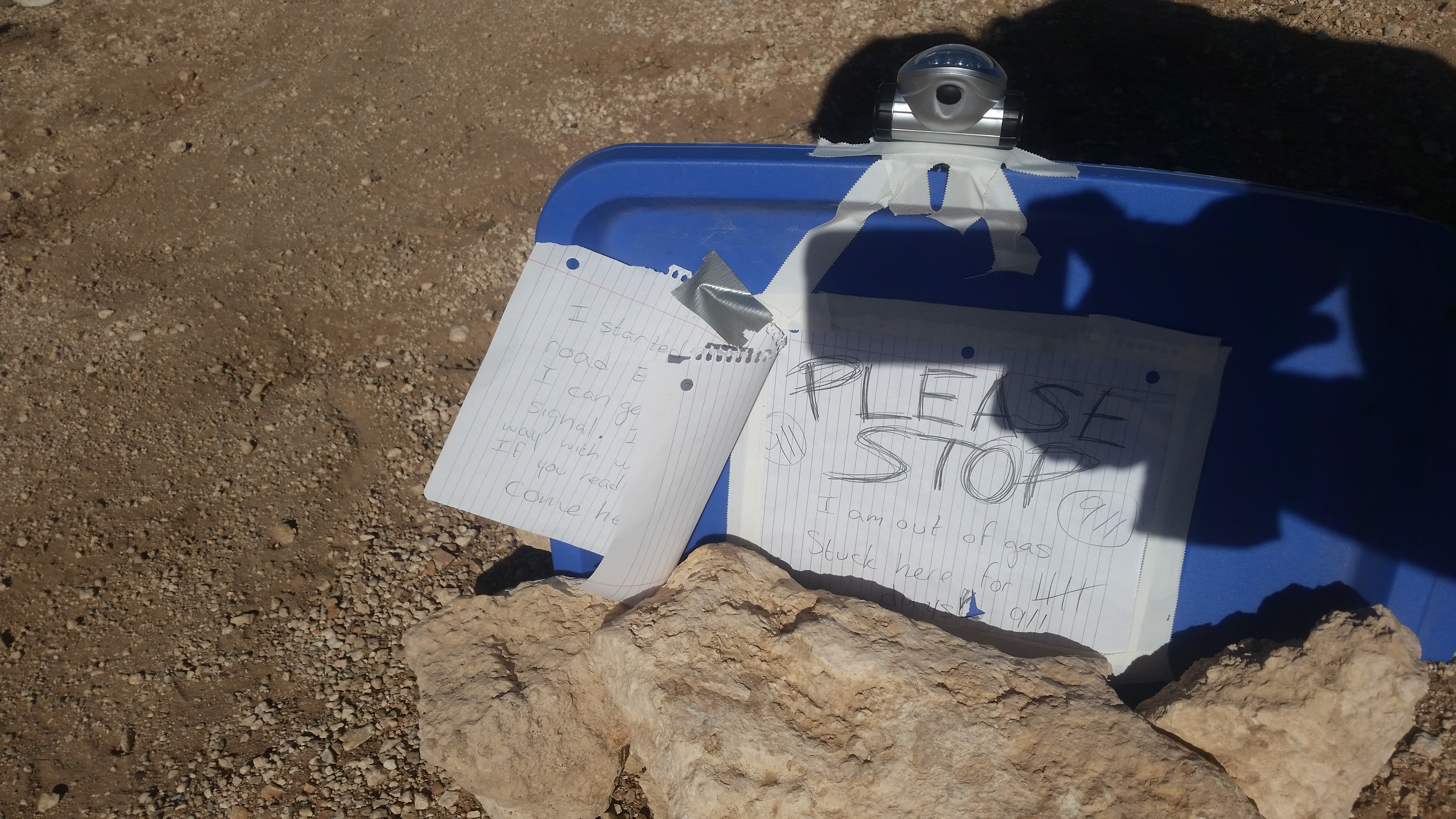 note left by stranded female