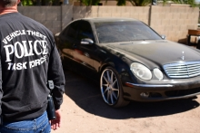 Vehicle Theft Task Force Detectives Serve Search Warrant