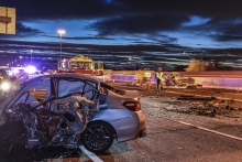 Arizona State Troopers Investigationg a Deadly Collision